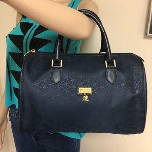 Courreges Paris Navy Blue Cloth Speedy Vintage Bag 667d77d22a